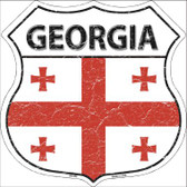 Georgia Country Flag Highway Shield Wholesale Metal Sign