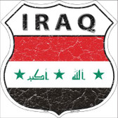 Iraq Country Flag Highway Shield Wholesale Metal Sign