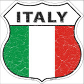 Italy Country Flag Highway Shield Wholesale Metal Sign