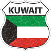 Kuwait Country Flag Highway Shield Wholesale Metal Sign