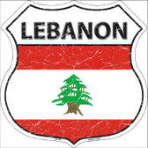 Lebanon Country Flag Highway Shield Wholesale Metal Sign