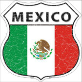 Mexico Country Flag Highway Shield Wholesale Metal Sign