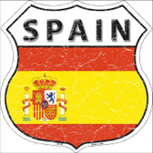 Spain Country Flag Highway Shield Wholesale Metal Sign
