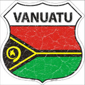 Vanuatu Country Flag Highway Shield Wholesale Metal Sign