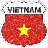 Vietnam Country Flag Highway Shield Wholesale Metal Sign