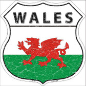 Wales Country Flag Highway Shield Wholesale Metal Sign