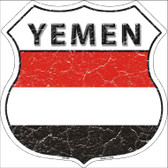 Yemen Country Flag Highway Shield Wholesale Metal Sign