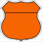 Orange|Black Plain Highway Shield Wholesale Metal Sign HS-007