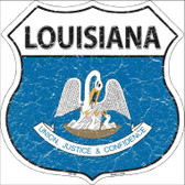 Louisiana State Flag Highway Shield Wholesale Metal Sign