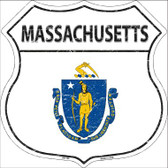 Massachusetts State Flag Highway Shield Wholesale Metal Sign