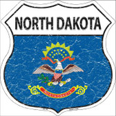 North Dakota State Flag Highway Shield Wholesale Metal Sign