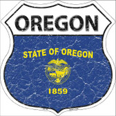 Oregon State Flag Highway Shield Wholesale Metal Sign