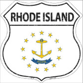 Rhode Island State Flag Highway Shield Wholesale Metal Sign