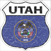 Utah State Flag Highway Shield Wholesale Metal Sign
