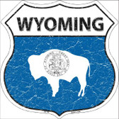 Wyoming State Flag Highway Shield Wholesale Metal Sign