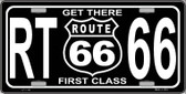 Get There 1st Class Novelty Wholesale Metal License Plate