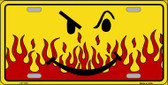 Smiley Flame Novelty Wholesale Metal License Plate