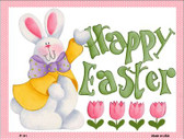 Happy Easter Pink Wholesale Metal Novelty Parking Sign P-111