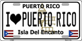 I love Puerto Rico Wholesale Metal Novelty License Plate LP-6867