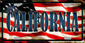 California Wholesale Metal Novelty License Plate