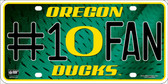 Oregon Ducks Fan Deluxe Wholesale Metal Novelty License Plate