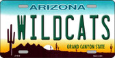 Wildcats Arizona Background Novelty Wholesale Metal License Plate LP-6103