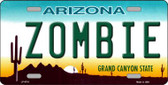 Zombie Arizona Background Novelty Wholesale Metal License Plate LP-6701