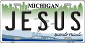 Jesus Michigan Wholesale Metal Novelty License Plate LP-6125