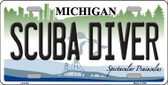 Scuba Diver Michigan Wholesale Metal Novelty License Plate LP-6130