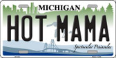 Hot Mama Michigan Wholesale Metal Novelty License Plate LP-6134