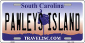 Pawleys Island South Carolina Wholesale Metal Novelty License Plate LP-5338