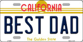 Best Dad California Novelty Wholesale Metal License Plate LP-6856