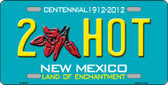 2 Hot New Mexico Novelty Wholesale Metal License Plate LP-6676