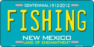 Fishing new mexico novelty wholesale metal license plate for New mexico fishing license