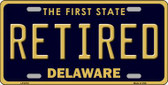 Retired Delaware Novelty Wholesale Metal License Plate LP-6718