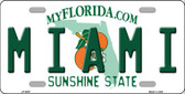 Miami Florida Novelty Wholesale Metal License Plate LP-6007