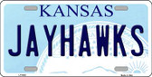Jayhawks Kansas Novelty Wholesale Metal License Plate LP-6605