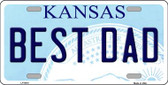 Best Dad Kansas Novelty Wholesale Metal License Plate LP-6616
