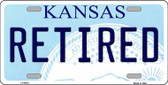 Retired Kansas Novelty Wholesale Metal License Plate LP-6618