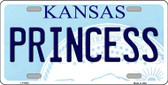 Princess Kansas Novelty Wholesale Metal License Plate LP-6625