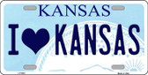 I Love Kansas Novelty Wholesale Metal License Plate LP-6627