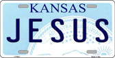 Jesus Kansas Novelty Wholesale Metal License Plate