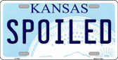 Spoiled Kansas Novelty Wholesale Metal License Plate