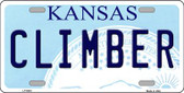 Climber Kansas Novelty Wholesale Metal License Plate