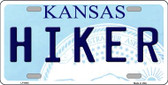 Hiker Kansas Novelty Wholesale Metal License Plate