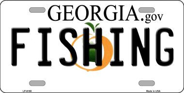 Fishing georgia novelty wholesale metal license plate for Fishing license georgia