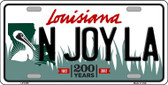 N Joy La Louisiana Novelty Wholesale Metal License Plate
