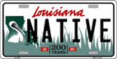 Native Louisiana Novelty Wholesale Metal License Plate