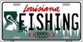 Fishing Louisiana Novelty Wholesale Metal License Plate