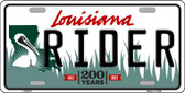 Rider Louisiana Novelty Wholesale Metal License Plate